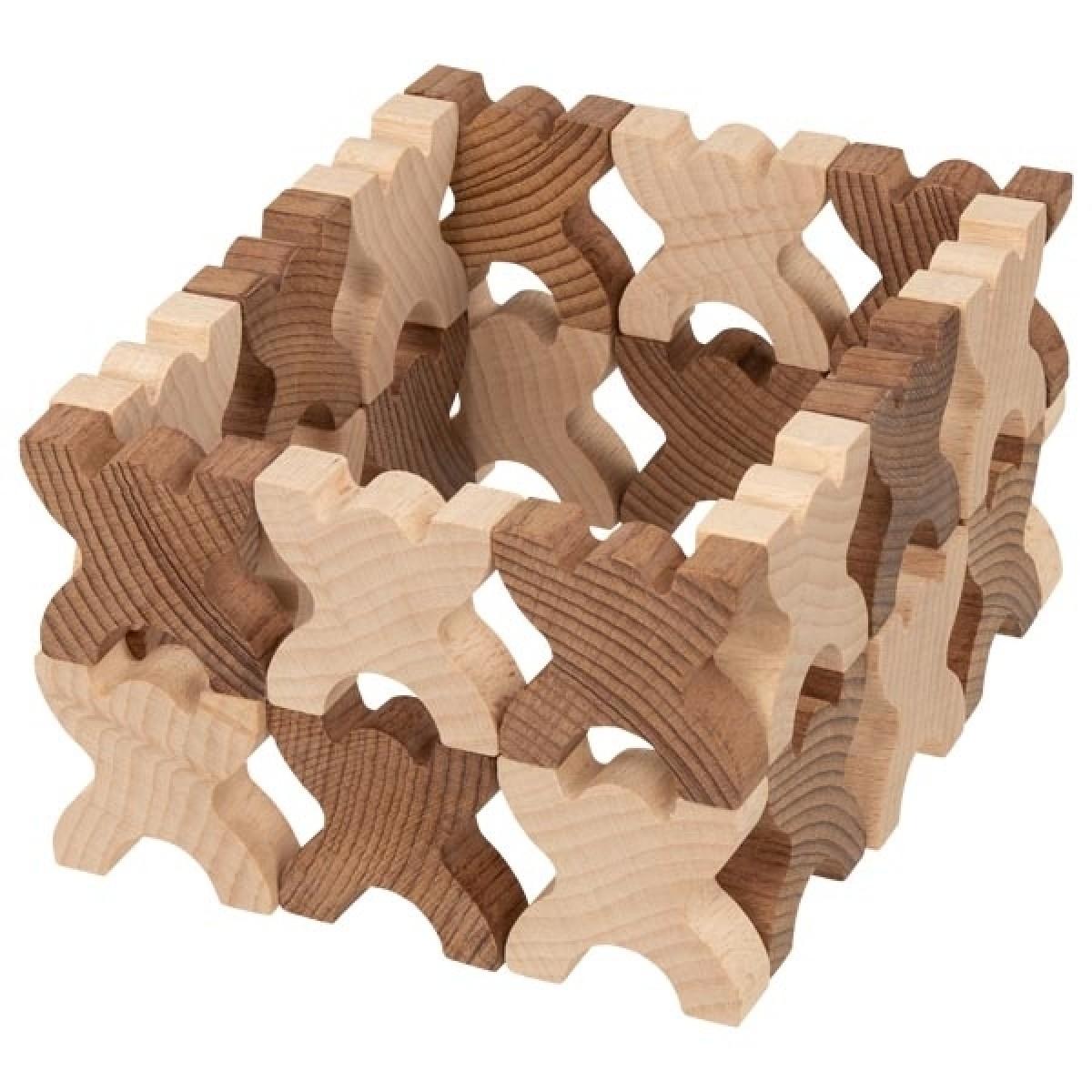 Geschicklichkeitsspiel Geduldspiel Stapelspiel aus Holz mit Holz Tiger BWI