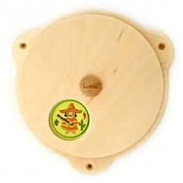 Lokki Wandspiel Drehscheibe mit Bildern: Kontinente - Holzspielzeug Profi