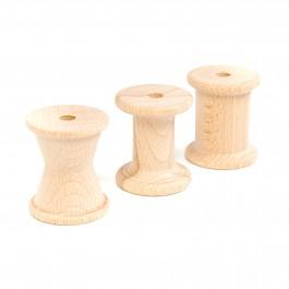 Grapat 3 Holzspulen natur - Holzspielzeug Profi