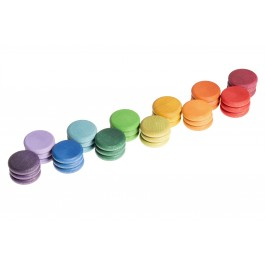 Grapat 36 Scheiben bunt in 12 Farben - Holzspielzeug Profi