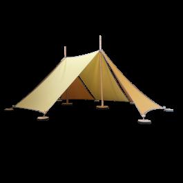 ABEL tent 2 in gelb - Holzspielzeug Profi