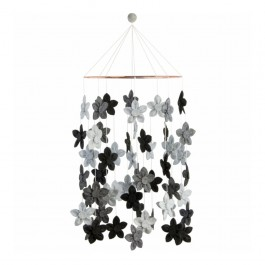 Baby Bello Filz-Mobile Blossom Dream in grau - Holzspielzeug Profi
