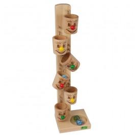 Beck Kullerbecher mit Gesichtern - Holzspielzeug Profi