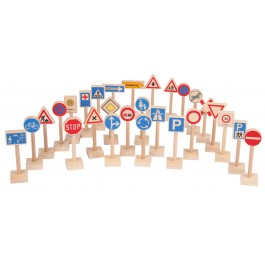 Beck Verkehrszeichen (28 Stück) - Holzspielzeug Profi