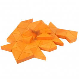 Beck Trioko Dreieck-Puzzle orange - Holzspielzeug Profi