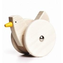 BAJO Wackelhuhn creme - Holzspielzeug Profi
