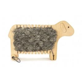 BAJO Schaf zum Weben natur - Holzspielzeug Profi