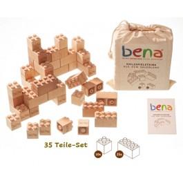 bena Holzbausteine STARTER Set (35 Teile) - Holzspielzeug Profi