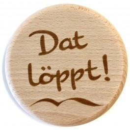 "Holzpost® Glasdeckel ""Dat löppt!"" - Holzspielzeug Profi"