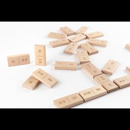 JARDesign DiDi Toys Mathematische Dominosteine Multiplikation bis 10 - natur