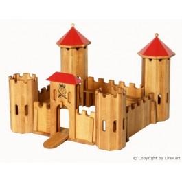 Drewart Kleines Kastell mit rotem Dach - Holzspielzeug Profi
