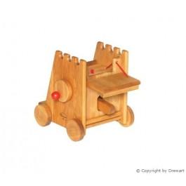 Drewart Kleiner Belagerungsturm mit Rammbock von vorne - Holzspielzeug Profi