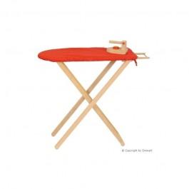 Drewart Bügelbrett mit Bügeleisen (Bezug kann variieren) - Holzspielzeug Profi