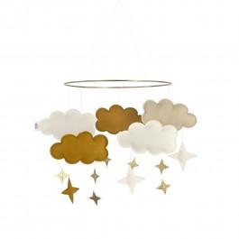 Baby Bello Filz-Mobile Fantasy Clouds Wolken Mobile in Honey Mustard - Holzspielzeug Profi
