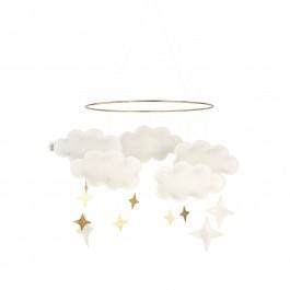 Baby Bello Filz-Mobile Fantasy Clouds Wolken Mobile in Pearl White - Holzspielzeug Profi