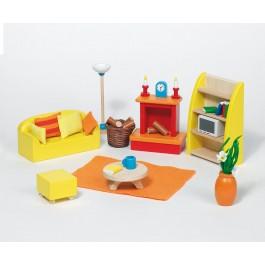 Puppenmöbel Wohnzimmer modern