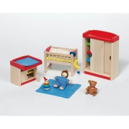 Puppenmöbel Babyzimmer modern