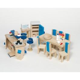 Puppenmöbel Küche mit Tresen modern