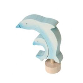 GRIMM´S Tier-Stecker Delfine, handbemalt