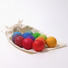 GRIMM´S Kleine Regenbogenkugeln (Lieferung ohne Stoffbeutel) - Holzspielzeug Profi