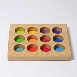GRIMM´S Sortierbrettchen Regenbogen - Holzspielzeug Profi