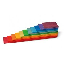GRIMM´S Bauplatten Regenbogen- Holzspielzeug Profi