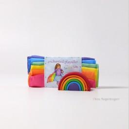 Sarah´s Silks Verzauberte Spielseide Regenbogen: OHNE Regenbogen - Holzspielzeug Profi
