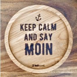 """Holzpost® Untersetzer Bierdeckel """"Keep calm and say Moin"""" - Holzspielzeug Profi"""