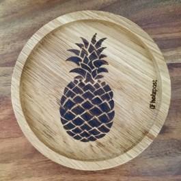 """Holzpost® Untersetzer Bierdeckel """"Ananas"""" - Holzspielzeug Profi"""