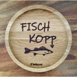 """Holzpost® Untersetzer Bierdeckel """"Fischkopp"""" - Holzspielzeug Profi"""