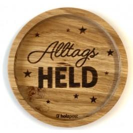 """Holzpost® Untersetzer Bierdeckel """"Alltags Held"""" - Holzspielzeug Profi"""
