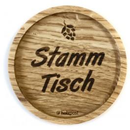 """Holzpost® Untersetzer Bierdeckel """"Stammtisch"""" - Holzspielzeug Profi"""