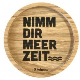 """Holzpost® Untersetzer Bierdeckel """"Meer Zeit"""" - Holzspielzeug Profi"""