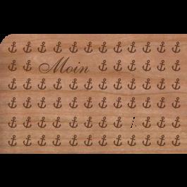 "Holzpost Grußkarte ""Moin Anker"" - Holzspielzeug Profi"