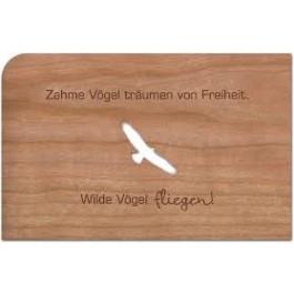 "Holzpost Grußkarte ""Zahme Vögel"" - Holzspielzeug Profi"