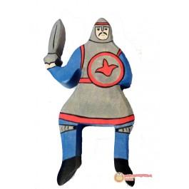 HOLZTIGER Blauer Ritter reitend ohne Pferd