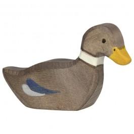 Holztiger Ente schwimmend - Holzspielzeug Profi
