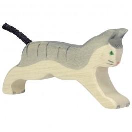 HOLZTIGER Katze laufend - Holzspielzeug Profi