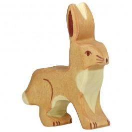 HOLZTIGER Hase mit Ohren hoch - Holzspielzeug Profi