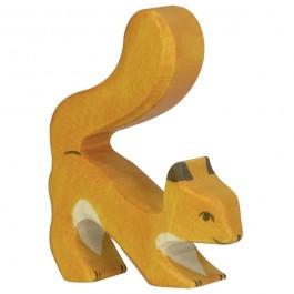 Holztiger Orangefarbenes Eichhörnchen - Holzspielzeug Profi