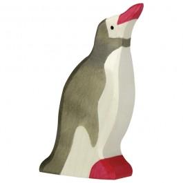 Holztiger Pinguin Kopf hoch - Holzspielzeug Profi