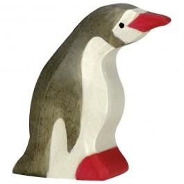 Holztiger Kleiner Pinguin Kopf nach vorne - Holzspielzeug Profi
