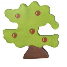 Holztiger Apfelbaum für Vögel - Holzspielzeug Profi