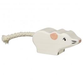 HOLZTIGER Weiße Maus - Holzspielzeug Profi