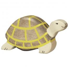 Holztiger braune Schildkröte - Holzspielzeug Profi