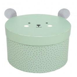 JaBaDaBaDo Aufbewahrungsbox Teddy rund in blau unJaBaDaBaDo Aufbewahrungsbox Teddy rund in blau und grün  im 2er Set: grün - Holzspielzeug Profid grün: grün  im 2er Set - Holzspielzeug Profi