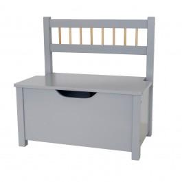 JaBaDaBaDo Truhenbank mit Deckel grau Sofa  - Holzspielzeug Profi