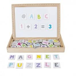 JaBaDaBaDo Magnetspiel ABC & Zahlen - Holzspielzeug Profi