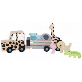 JaBaDaBaDo Jeep mit Safaritieren - Holzspielzeug Profi