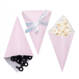 JaBaDaBaDo Zuckerl Tüten rosa im 8er Set (ohne Inhalt) - Holzspielzeug Profi